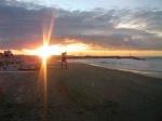 Tramonto sulla spiaggia di Gabicce